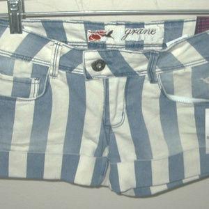 Grane Blue & White Shorts Size 0 NWT MSRP $24.5